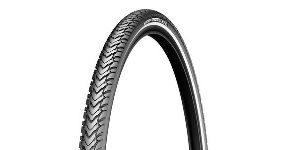 """Michelin Protek Cross Racercykeldæk 28"""" kanttråd refleks sort"""